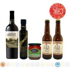 """Lote Productos De Orihuela, Alacena de la Vega Este lote esta formado por una botella de vino """"Altos de Orihuela"""", dos botellines de cerveza artesana """"El Oriol"""", un tarro de escalivada """"Delicias Vegetales"""" y una botella de aceite virgen extra De Taracon Almazara #regalo #navidad #orihuela #alacena #altosorihuela #eloriol"""