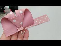 Hair Ribbons, Diy Hair Bows, Diy Bow, Diy Ribbon, Ribbon Crafts, Ribbon Bows, Kanzashi Tutorial, Hair Bow Tutorial, Fabric Bows