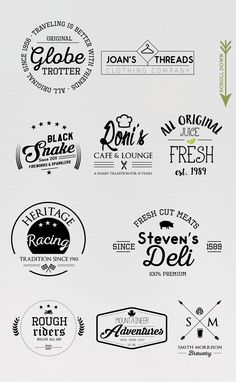 10 Trendy Logo Templates by Vector Chameleon on Creative Market