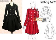 Éste es el famoso abrigo que usó la Princesa Kate en uno de sus viajes, si no te gusta el rojo, prueba con otros tonos. El molde está en www.unicose.net / Código 10011402