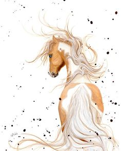 """Palomino - Majestic Horse"" by AmyLyn Bihrle.  See more wild prints at www.imagekind.com!"