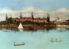 Beautiful vintage postcard of the old Tampa Bay Hotel (now the University of Tampa).