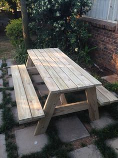 First Picnic Table