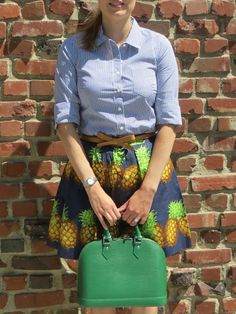 The Purse Forum - hellokatiegirl (Los Angeles) with her Louis Vuitton Epi Alma in Menthe.  (August 2013)