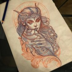 Witchcraft Tattoos, Wiccan Tattoos, Celtic Tattoos, Girly Tattoos, Head Tattoos, Body Art Tattoos, Female Tattoos, Traditional Tattoo Painting, Traditional Tattoo Design
