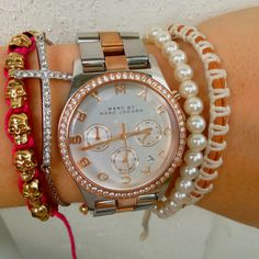 Marc by marc jacobs Henry rose gold with acc