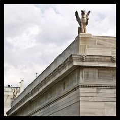 Detail form the classical Gennadius Library. Modern City, Concert Hall, Neoclassical, Athens, The Locals, Statue Of Liberty, Greece, Louvre, Old Things