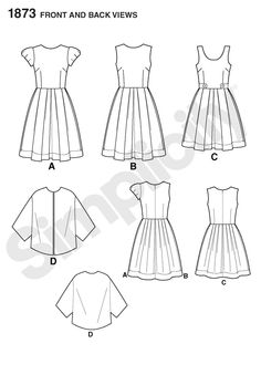 Simplicity Creative Group - Misses' & Miss Petite Dresses Cynthia Rowley Collection 1873