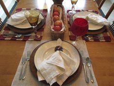 Calypso In The Country: Fall Table Setting with Apples