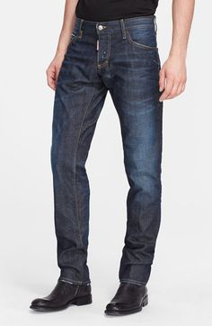 DSQUARED2 Slim Fit Jeans (Blue). #dsquared2 #cloth #pant