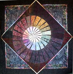 """""""Shell"""" Wonderful use of coloured fabric by Betty Busby, Quilt artist, USA"""