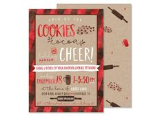Your place to buy and sell all things handmade Cookie Exchange Party, Christmas Cookie Exchange, Cocoa Party, Print Your Own Invitations, Christmas Activities For Kids, Thing 1, Christmas Party Invitations, Holiday Parties, Holiday Ideas