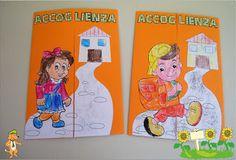 A Scuola con Poldo: Lapbook Accoglienza Interactive Notebooks, Montessori, Scooby Doo, Crafts For Kids, Education, Learning, School, Fictional Characters, Cornice