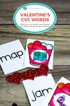 These Valentine cvc words worksheets were the perfect addition to our eyfs kindergarten curriculum. Practice your cvc words with these fun hands-on activities #cvcwords #valentinescvcwordskindergarten