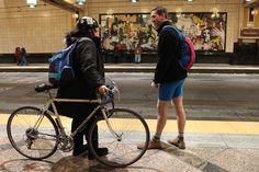 Fourth Annual No Pants Light Rail Ride!