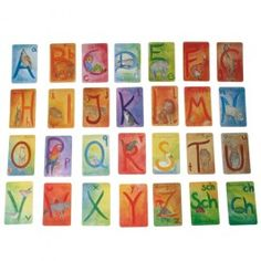 Waldorf Alphabet Letter Cards - Beautifully illustrated with watercolor paintings of animals depicting each letter. $15.95