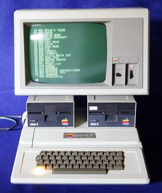 Apple ][ Plus - This is what my elementary school had. In 1986, I used it to learn to spell 'supercalafragilisticexpialadocious'!