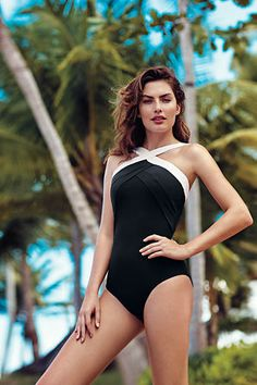 237f452738 Women s Shaping High-neck One Piece Swimsuit from Lands  End