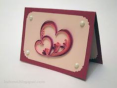 Swirled quilled hearts