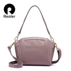 e77cb142e3 Buy REALER genuine leather women handbags shoulder bag 2018 crossbody bags  for women ladies fashion designs solid bags for ladies