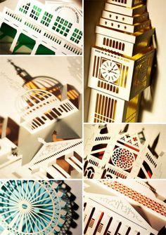 London Landmarks Laser Cut Pop-up cards, by Papertango Ltd.