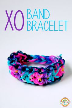 How to Make an XO Band Bracelet! - Kids Activities Blog  Friend or Follow me: https://www.facebook.com/tina.darlington.79   For fun posts, jokes, health tips, weight loss motivation, encouragement and fun, join me and others at: https://www.facebook.com/groups/BalanceLoveandHealthyLife/