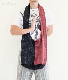 Unique Handwoven Purist Hippie Hobo Unisex Patchwork Monk Sling Shoulder Bag (MB-S4)