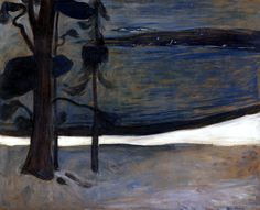 Winter at Nordstrand Edvard Munch - 1900-1901