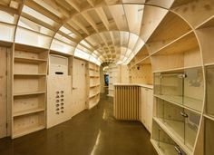 Playful shelved dome creates an efficient use of space for this animal hospital by JHY Architects