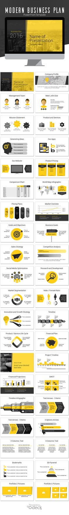 Modern Business Plan PowerPoint Template this theme is perfect for annual reports business plan financial statements etc. Your audience will appreciate the consistent look and feel and design. #powerpoint #business #powerpoint_template