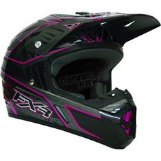 FXR Racing Fuchsia/Charcoal Octane Helmet