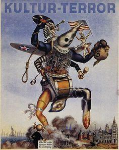 1944 anti-American Nazi propaganda poster