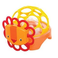Oball Rollie Rattles Orange Lion