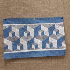Tumbling Blocks, Quilt Border, Quilt Blocks, Table Runners, Bath Mat, Quilt Patterns, Patches, Quilts, Sewing