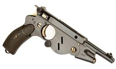 Bergmann 1896 Pistol Theodor Bergmann, a German industrialist, hired a gun designer and developed a series of automatic pistols at the turn of the century.