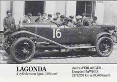 LE MANS 1928 - Lagonda OH 2L Speed  #16