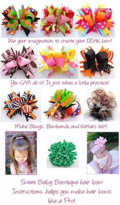Hair Bows by clarelou