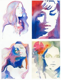 Color theory: watercolor portraits