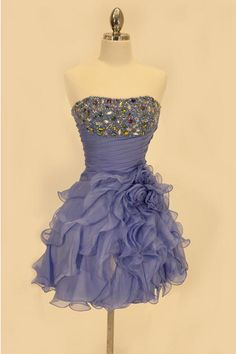 Cinderella Divine Short Blue Dress with Jeweled Top