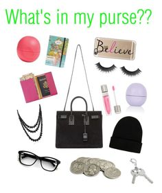 """""""What's in my purse challenge"""" by inspired-outfits-from-tv ❤ liked on Polyvore featuring Lancôme, Yves Saint Laurent, Royce Leather, Bling Jewelry, NLY Accessories, Eos, Topshop, Cavallini & Co., Casetify and women's clothing"""