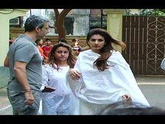 Raveena Tandon at Shilpa Shetty's father's funeral. Shilpa Shetty, Funeral, Father, Couple Photos, Couples, Music, Youtube, Pai, Couple Shots