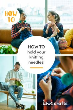 Even the simplest things can be a little tricky for beginners! This handy guide to how to hold knitting needles will give you all the best tips and tricks! | Learn with LoveCrafts.com