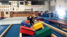 Gym-Kinetics Ninja Zone - Quintuple Step Toddler Gymnastics, Gymnastics Lessons, Gymnastics Room, Preschool Gymnastics, Gymnastics Videos, Gymnastics Coaching, Gymnastics Games, Kids Ninja Warrior, Ninja Warrior Course