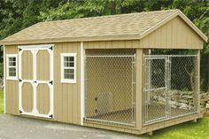 Shed/ dog kennel combo