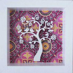 Árbol de la vida con flores y pajaritos