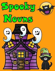 Spooky Nouns Print and Go These fun Halloween First Grade Worksheets are perfect to get your students to learn, and to get them into the Halloween season. These Nouns worksheets can also be used for Kindergarten and Second Grade. Your students will love working with these hands on cut and paste activities and will also illustrate spooky nouns.