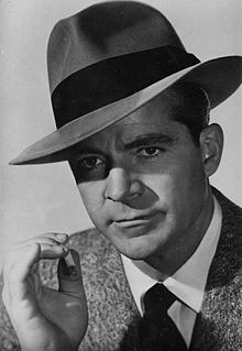 """ -Dana Andrews as tough detective Mark MacPherson in the classic film noir ""Laura."