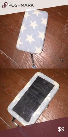 Wallet Jean wallet with stars on it, fits iPhone 5, never used Bags Wallets