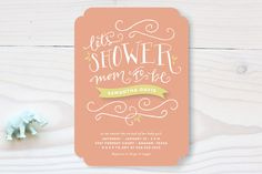 Mom to Be Baby Shower Invitations by Rebekah Disch at minted.com