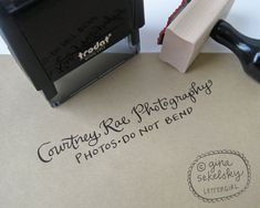 Handwritten Business 2line Stamp your choice of by lettergirl
